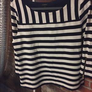 Navy/white stripe shirt by Talbots